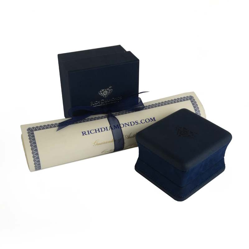 Tiffany & Co. Diamond and Sapphire Platinum Embrace Eternity Ring